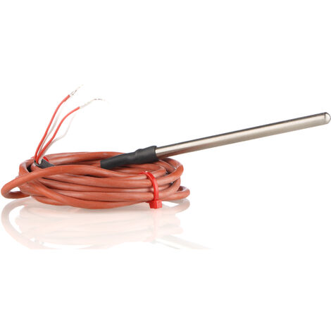 Capteur PT100, Long. 100mm, Diam 6mm, -50°C, +200°C max, Classe B