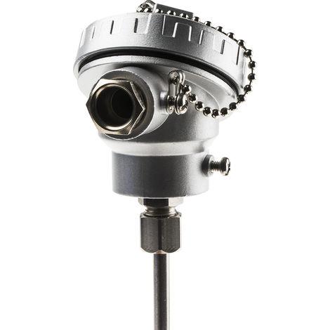 Capteur PT100, Long. 200mm, Diam 6mm, -100°C, +450°C max, Classe B