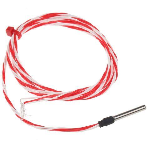 Capteur PT100, Long. 25mm, Diam 3mm, -50°C, +200°C max, Classe B