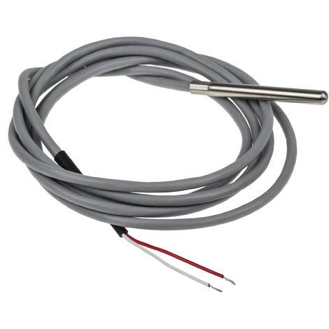 Capteur PT1000, Long. 50mm, Diam 5mm, -20°C, +100°C max, Classe A