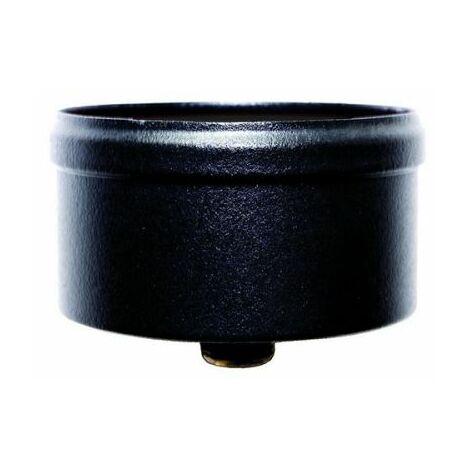 capuchon de condensation 80 mm avec décharge à culot de combustion en acier inoxydable peint en noir