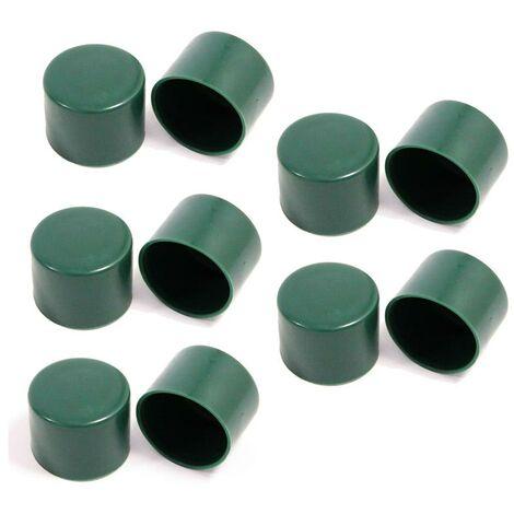 Capuchon de poteau Couvre-poteau Lot de 10 poteaux de clôture Ø 34 mm plastique