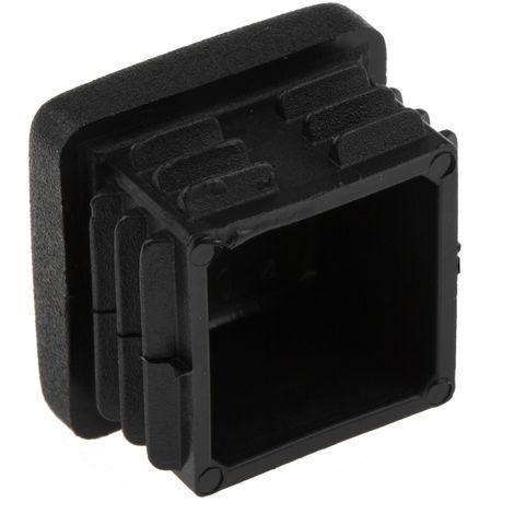 Capuchon d'extrémité carré, Plastique Noir, Profilé de 25 mm