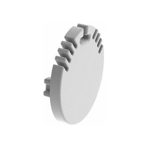 capuchon en aluminium pour profilé pour ruban led alu-round - sans trou de câble - argent