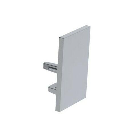 Capuchon En Aluminium Pour Profilé Pour Ruban Led Alu-Swiss - Sans Trou De Câble - Argent