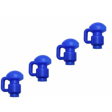 Capuchons en C de Poteaux de Filet pour Trampoline de Jardin - 1 et 1,5 pouces