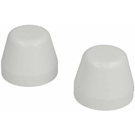 Capuchons en plastique blanc