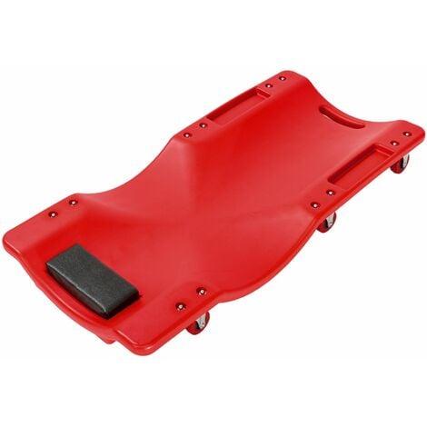 Car creeper - car creeper, car crawler, mechanics creeper - red