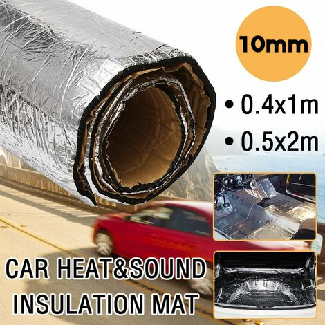 Car heat and sound insulation mat fire resistant cotton car soundproof mat thermal heat insulation for car door cargo hood front fender (50x200cm)