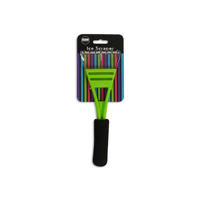 Image of Car Ice Scraper with Comfort Grip Handle in Funky Green