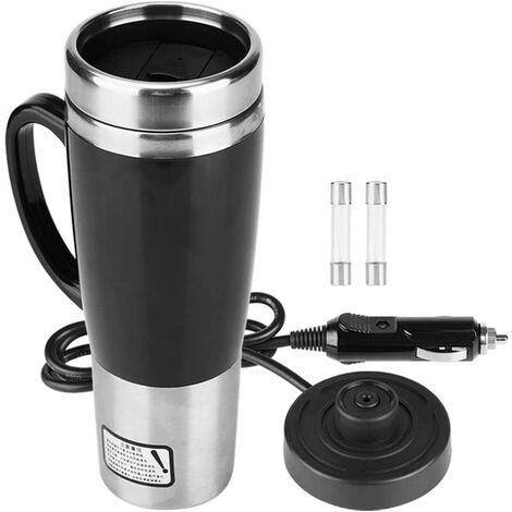 Car Kettle Mug Stainless Steel Travel Heating Mug Hot Tea Coffee Drinking Cup 450ML 12V / 24V (12V)