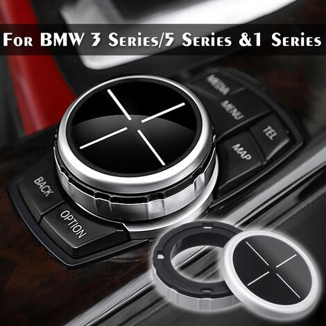 Car Multimedia Button Cover Trim Black Button For Bmw F10 F20 F30 Idrive