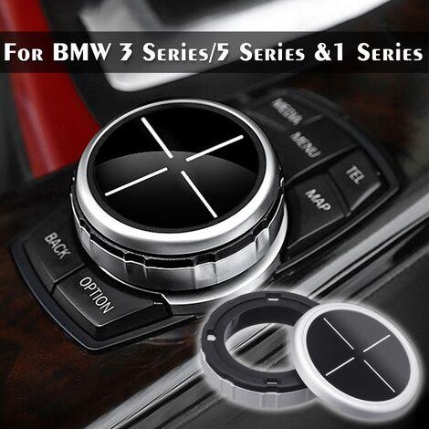 Car Multimedia Button Cover Trim Black Button For Bmw F10 F20 F30 Idrive Hasaki
