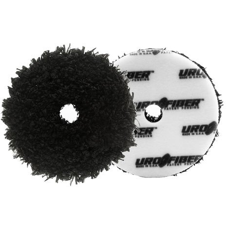 "Car Polishing Pad 5"" URO-Fiber Black Microfiber Finisher Pad Single"