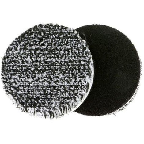 "Car Polishing Pads 3"" URO-Fiber Black & White Microfiber Finisher Pad 2 Pack"