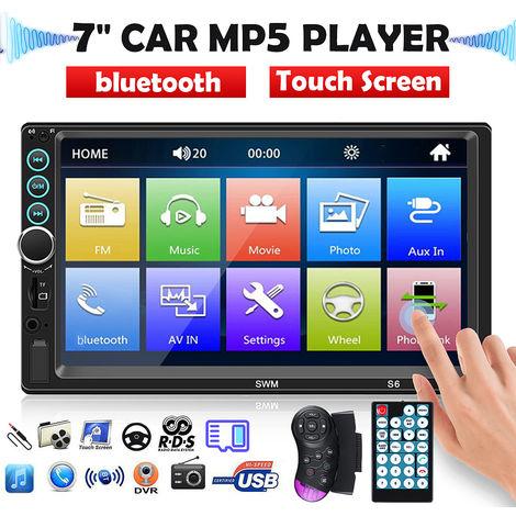 Car Radio Stereo MP5 Player bluetooth USB FM AUX TF Pantalla táctil para IOS / Android