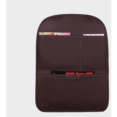 Car seat kick cushion, child protection cushion, storage bag anti-dirt protective cushion, anti-kick rear wear cushion (brown)