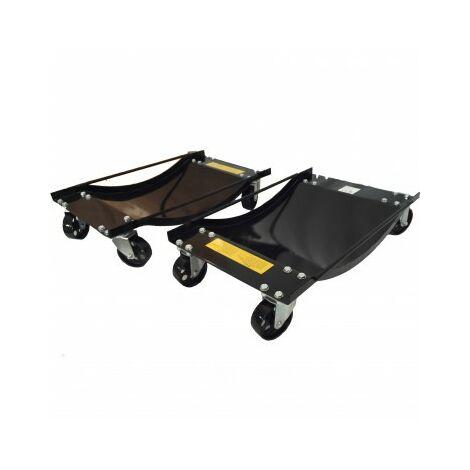 Car Tire Skates 2 Tire Wheel Car Dolly Ball Bearings Skate vehicle dollies