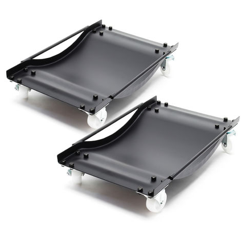 Car Wheel Dolly 2-piece Set Car Van Vehicle Positioning Trolley 450kg