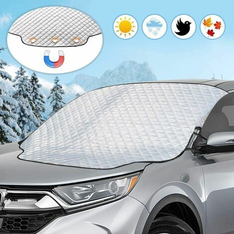 Car Windshield Cover, Windshield Protection Cover, Magnetic Folding Cover Universal Windshield Cover, Anti Frost and Snow, Rain, UV, Dust - 183 x 116 cm