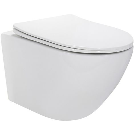 CARAPELLE WC suspendu + abattant frein de chute