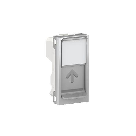 Caratula RJ45 1 mod. Keystone Aluminio SCHNEIDER ELECTRIC NU946030