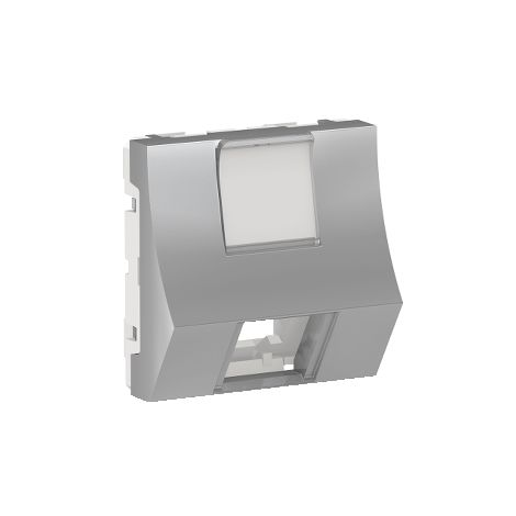 Caratula RJ45 2 mod Keyst inclinada Alum SCHNEIDER ELECTRIC NU946430