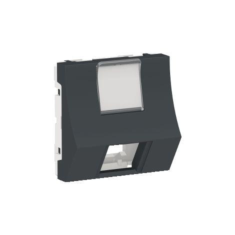 Caratula RJ45 2 mod Keyst inclinada Antr SCHNEIDER ELECTRIC NU946454
