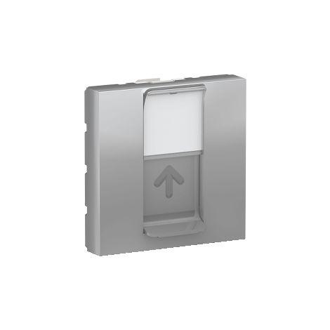 Caratula RJ45 2 mod. Keystone Aluminio SCHNEIDER ELECTRIC NU946130
