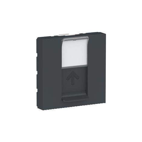 Caratula RJ45 2 mod. Keystone Antracita SCHNEIDER ELECTRIC NU946154