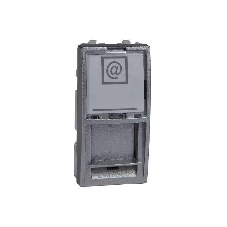 Caratula RJ45 Keystone 1 mod. Unica Alum SCHNEIDER ELECTRIC MGU9.461.30