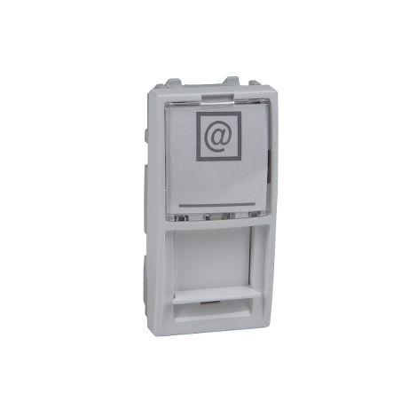 Caratula RJ45 Keystone 1 mod. Unica Pol SCHNEIDER ELECTRIC MGU9.461.18