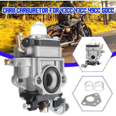 Carb Carburetor For 43cc 47cc 49cc 50cc 2-Stroke Pocket Bike ATVs Stand-up Scooters Dirt Bikes Mini-Choppers