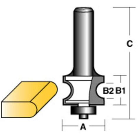 """Carbitool Bull Nose Radius Router Bit W/Bearing 1/2"""" Shank"""