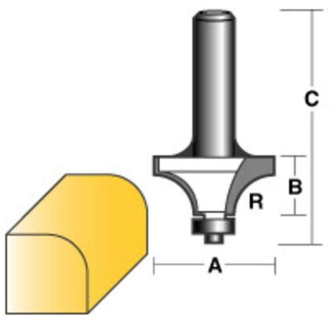 """Carbitool Round Over Router Bit 3/4"""" W/Bearing 1/2"""" Shank"""