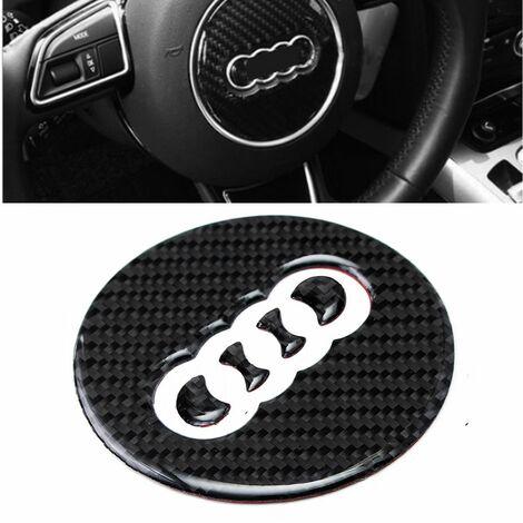 Carbon Fiber Look Steering Wheel Badge Emblem Sticker For Audi A3 A7 S7 Q7 Q3