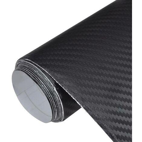 Carbon Fiber Vinyl Car Film 3D Black 152 x 200 cm VD06601