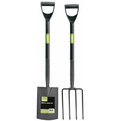 Carbon Steel Garden Fork and Spade Set