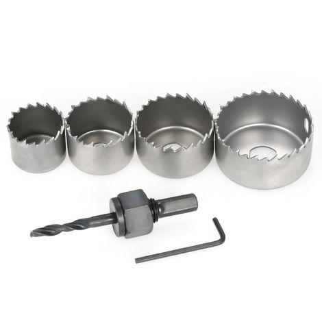 Carbon Steel Hole Saw Kit Door Lock Installation Kit 6 Pcs