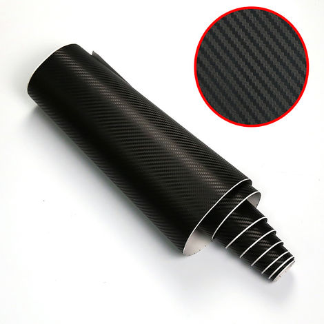 Carbone 3D Découverte Film Vinyl Adhésif Covering Protection voiture 12x60