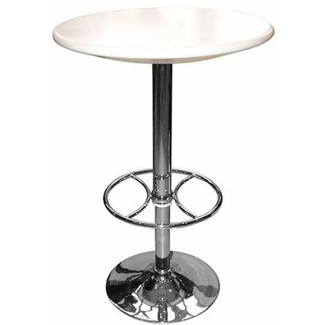 Carboni White Adjustable Tall Kitchen Bar Table