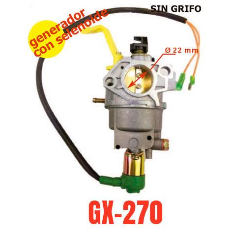 Carburador adaptable a motor generador Honda GX270