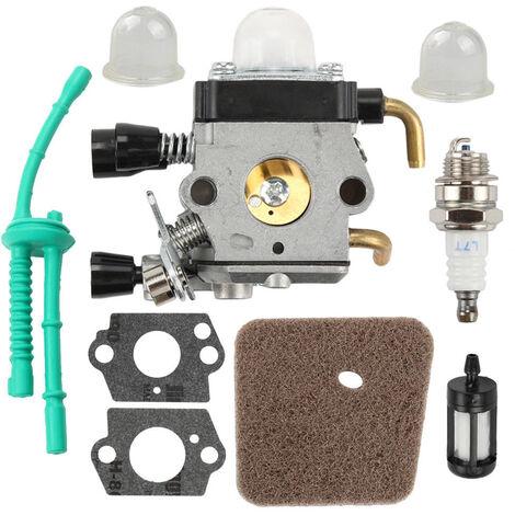 Carburateur Avec Filtre A Air Joint De Conduite De Carburant Kit De Bougie D'Allumage Pour Stihl Fs38 Fs45 Fs46 Fs55 Km55 Fs85