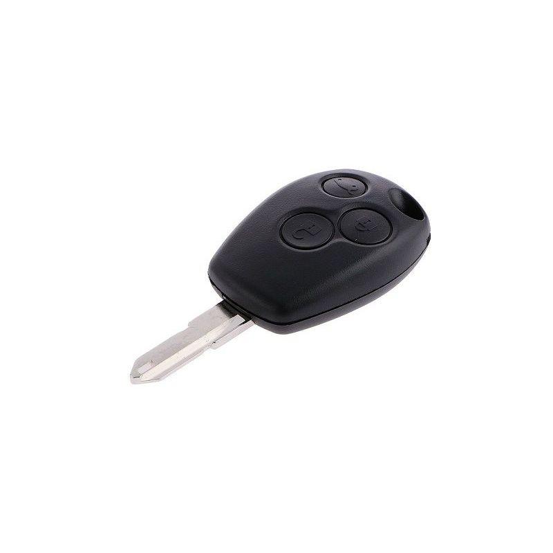 Carcasa mando llave del coche 3 botones Renault Negro