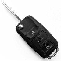 Carcasa mando llave del coche 3 botones Volkswagen Negro