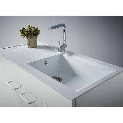 CAREA - Concept évier + meuble 105 cm - Couleur évier - Sable moucheté - Sable moucheté
