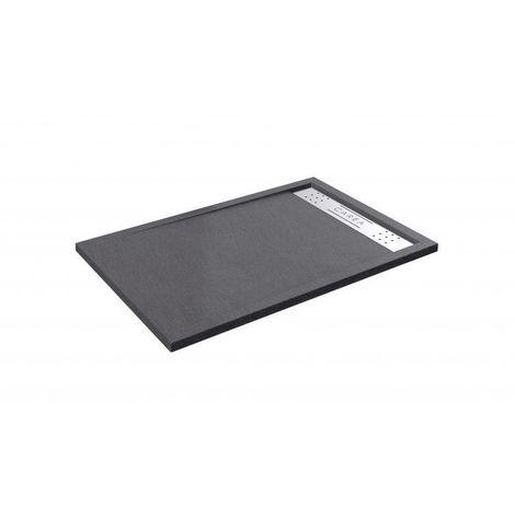 CAREA - Receveur anti-dérapant ONEGA rectangle 140x90cm - Couleur receveur - Gris