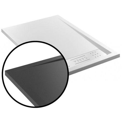 CAREA - Receveur BAÏKAL rectangle 120x80 cm - Couleur receveur - Gris