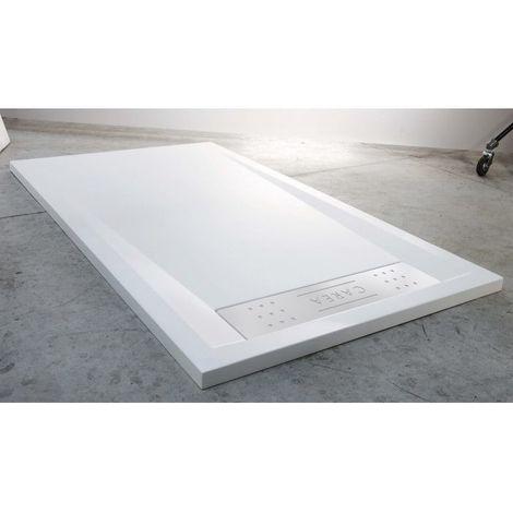 CAREA - Receveur BAÏKAL rectangle 160x90cm - Couleur receveur - Blanc - Blanc