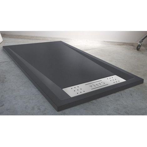 CAREA - Receveur BAÏKAL rectangle 160x90cm - Couleur receveur - Gris - Gris